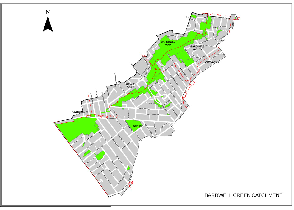 Bardwell Creek Catchment Flood Study Area