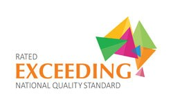 The service is rated as exceeding the National Quality Standard.