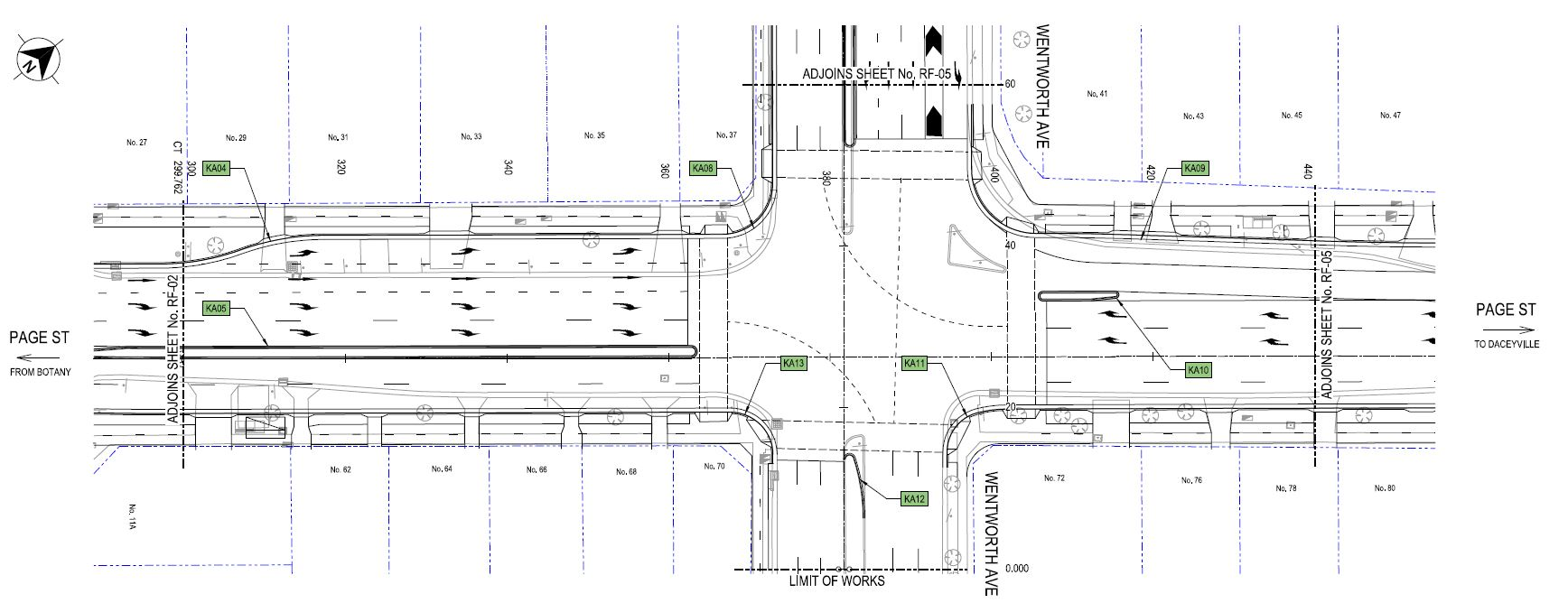 Plan of works at intersection of wentworth avenue and page street